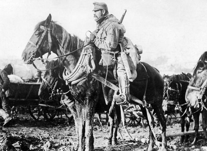 Contemporary | Armistice Agreements in Compiegne 1918 | Austro-Hungarian soldier on horseback, 1915 | 00481278