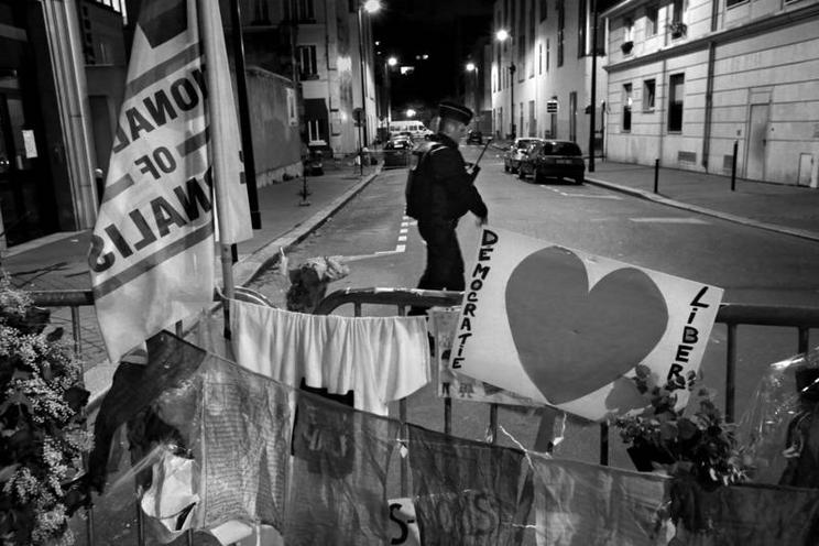 Places | Berlin | Barrier at the Rue Nicolas Appert after attacks in Paris, 2015 | 02163122