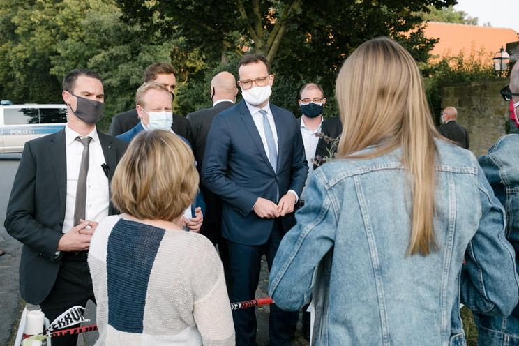 Current Events | Helath minister Jens Spahn in Barsinghausen, 2020 - by Michael Trammer 02947892