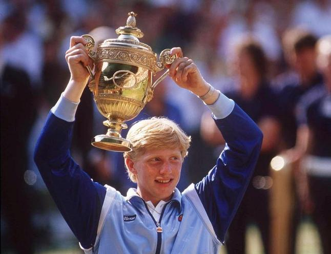 Personalities | Athletes | Boris Becker wins at Wimbledon, 1985 |  00023410