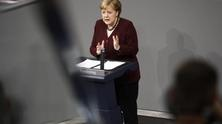 Government statement by Angela Merkel on the management of the COVID-19 pandemic, 2020 - by Metodi Popow