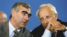 Edmund Stoiber and Theo Waigel