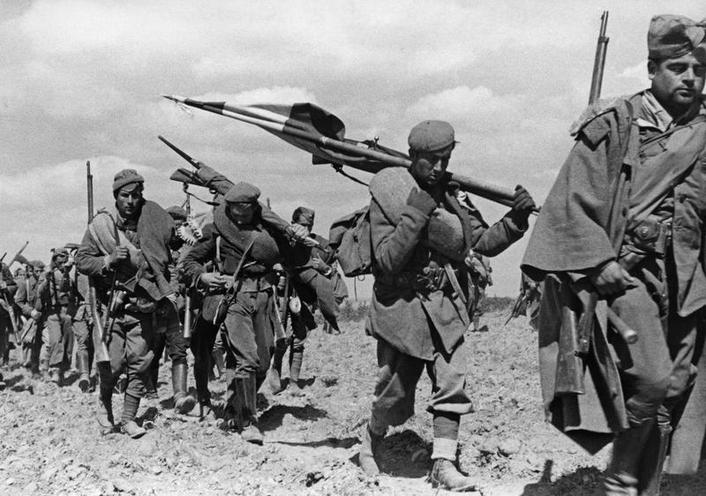 History | Spanish Civil War | Francist troops during Spanish Civil War 02376606