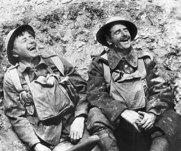 Contemporary | War in Romania, 1916-1918 | Laughing English soldiers at the Western Front | 00473945