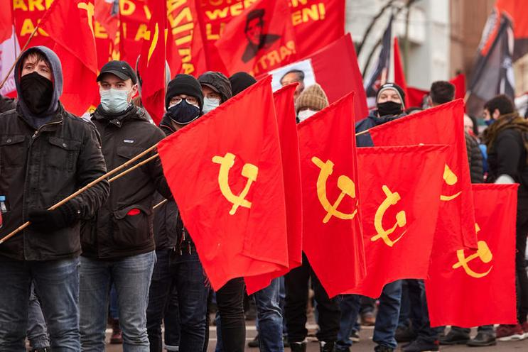 Current Events | Demonstration on the anniversary of the assassination of Rosa Luxemburg and Karl Liebknecht in Berlin, 2021 - by Florian Boillot 02984355
