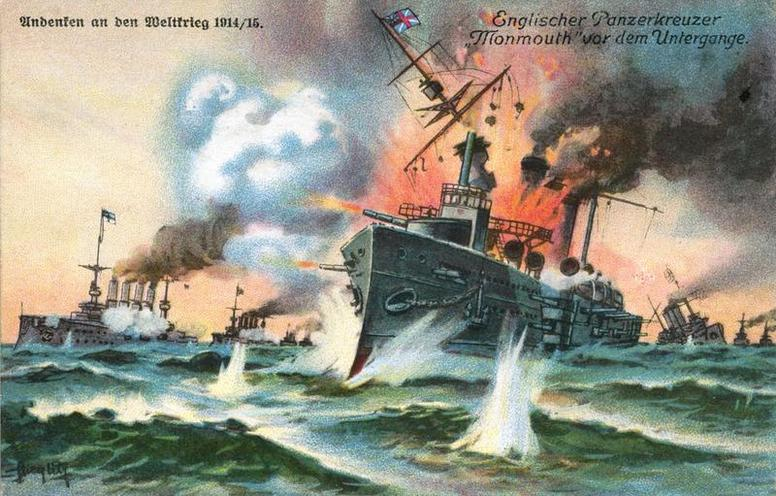 Contemporary | Germany after 1945 | Monmouth-class cruiser in the Battle of Coronel, 1914 | 00087094