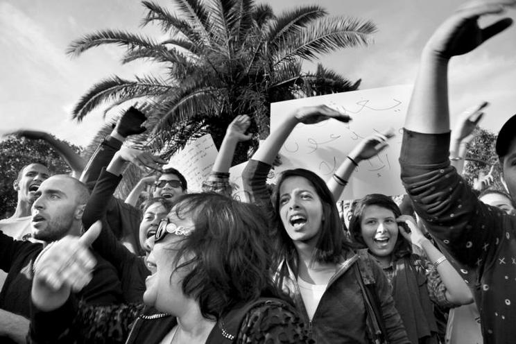 Places | Paris | Protest against election fraud in Tunis, 2011 | 00830979