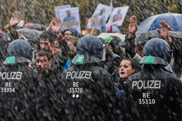 "Current Events | Demonstration of ""Querdenker"" in Berlin against the new Infection Protection Act, 2020 - by Florian Boillot 02967298"