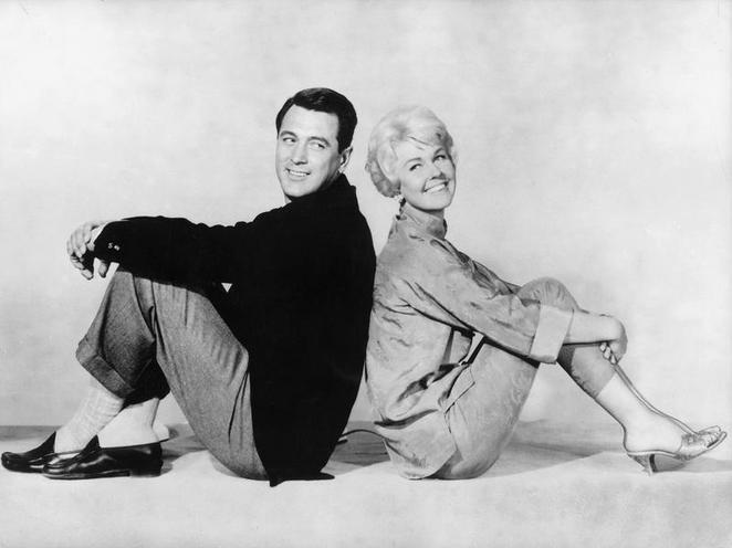 "Personalities | Hans Albers, theater plays | Rock Hudson and Doris Day in ""Pillow Talk"", 1959 