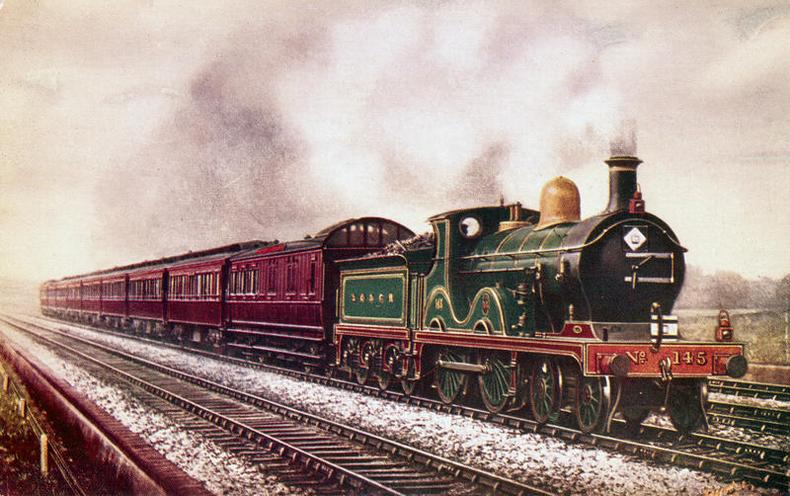 Daily Life | History of the railway | South Eastern & Chatham Railway continental boat train, c 1903. | 00464933