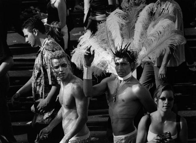 Places | Cuba & Mexico | Young men at the Love Parade in Berlin, 2001 | 00652957