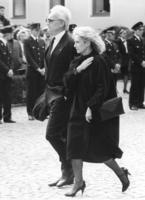 Edmund and Karin Stoiber at the funeral of Franz Josef Strauss in Rott am Inn, 1988 Werek/Süddeutsche Zeitung Photo