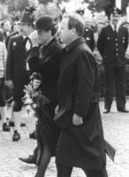 Gabriele and Gerold Tandler at the funeral of Franz Josef Strauss in Rott am Inn, 1988 Werek/Süddeutsche Zeitung Photo