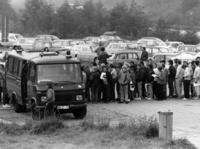 GDR refugees on their arrival in the FRG, 1989 amw/Süddeutsche Zeitung Photo