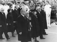 Helmut Kohl and Richard von Weizsaecker at the funeral procession for Franz Josef Strauss in Munich, 1988 Karl-Heinz Egginger/Süddeutsche Zeitung Photo
