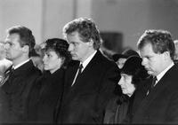 Strauss's family at the funeral, 1988 Karl-Heinz Egginger/Süddeutsche Zeitung Photo
