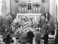 The coffin of Franz Josef Strauss in Regensburg, 1988 amw/Süddeutsche Zeitung Photo